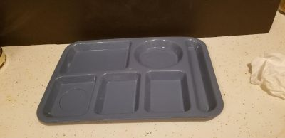 1 Vintage Tucker Housewares Divided Cafeteria Trays - Made In USA