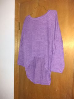 Purple High-Low Quarter Length Sleeve