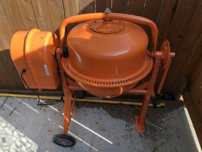 CEMENT MIXER (Central Machinery 3-1/2 cubic ft.)