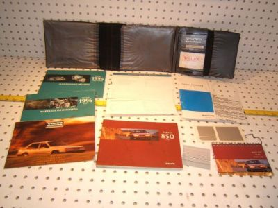 Sell Volvo 1996 850 Owners's OEM 1 set of 12 Manuals/ Papers Volvo Black 1 Pouch motorcycle in Rocklin, California, United States, for US $119.00