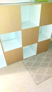 2 white 8- cube & 9 - cube organizers