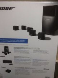 Bose speakers with receiver black