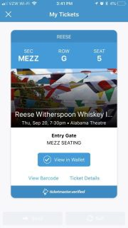 Reese Witherspoon ticket!