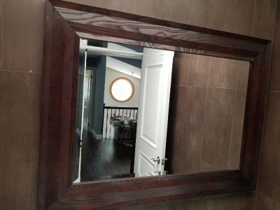 Beautiful wooden frame mirror 4'x3' from Crate and Barrel