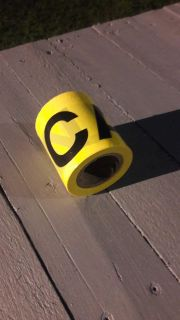 Roll of yellow CAUTION tape
