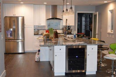 Textured Walnut Kitchen Cabinets from GEC Cabinet Depot