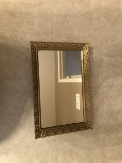 Gold mirrored tray or frame