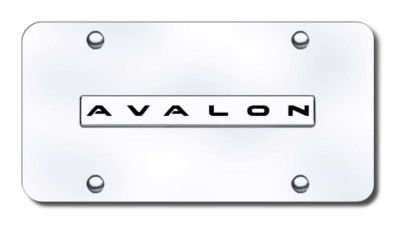 Purchase Toyota Avalon Name Chrome on Chrome License Plate Made in USA Genuine motorcycle in San Tan Valley, Arizona, US, for US $29.87