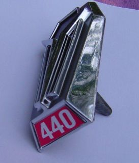 Buy 68 69 PLYMOUTH SATELLITE BELVEDERE NOS 440 HOOD ORNAMENT EMBLEM motorcycle in Jackson, Michigan, US, for US $49.99
