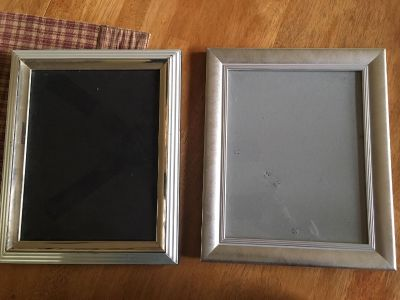 (2) silver 8x10 picture frames