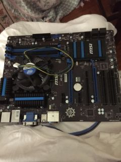 MSI Motherboard with 3.48ghz Intel I7 cpu