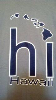 "$15 BRAND NEW! Men's/Women's Large Hawaii ""hi"" Islands T-Shirt"