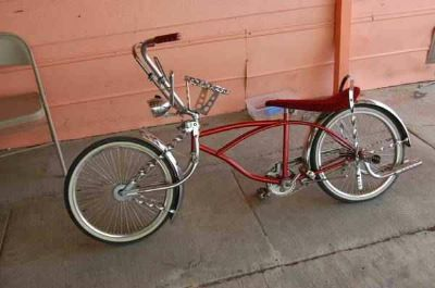 candy red lowrider bike