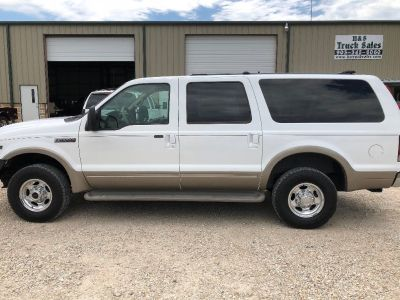 Ford Excursion 4x4 Limited, 3rd Row seat, V10 Gas, Extra Clean Texas SUV