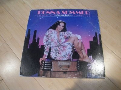 donna summmer 2 vinyl records lp's ~ on the radio + poster disco 12""
