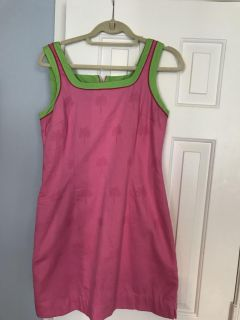 Vintage Lilly Pulitzer sheath dress pink! 8