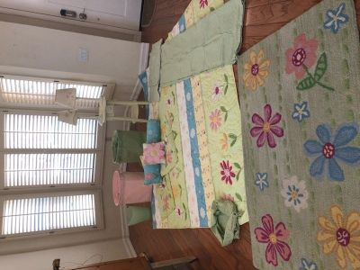 Pottery Barn Girls Flower Bedding ALL FOR 125.00
