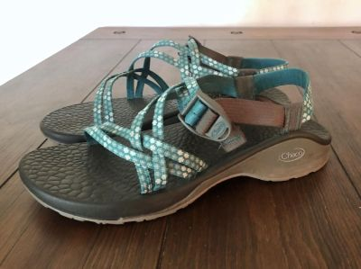 Chacos sandals, turquoise blue straps