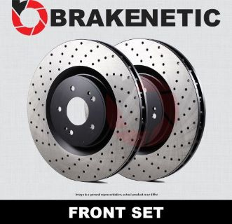 Purchase [FRONT SET] BRAKENETIC PREMIUM Cross DRILLED Brake Disc Rotors BNP67070.CD motorcycle in Long Beach, California, United States, for US $399.70