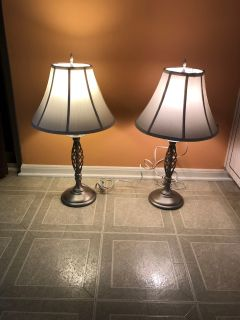 Deidra pair of table lamps. Brand new