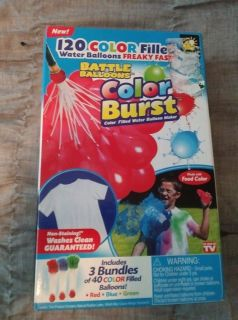 New 120 Color Burst Battle Balloons 40 of each Red Blue Green