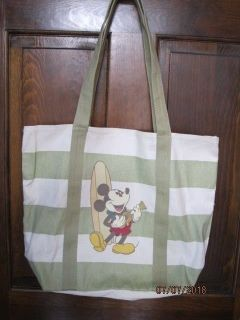 Disney Hawaii aulani mickey mouse ukulele surfboard canvas tote beach bag