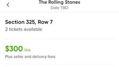 The Rolling Stones Concert tickets
