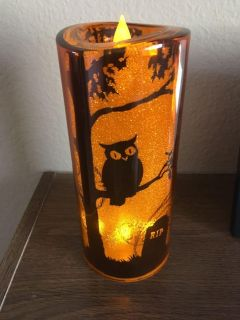 Light up Halloween candle