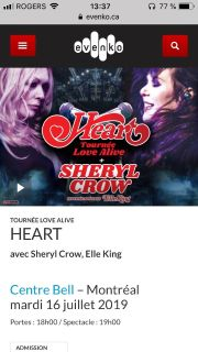Tickets for Heart + Sheryl Crow + Elle King