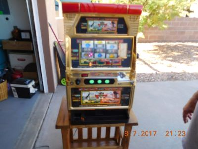 Dale Earnhardt Slot Machine Oak TV Entertainment Center and Misc. items