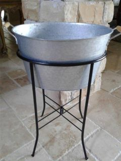 Oval Galvanized Beverage Tub with Stand