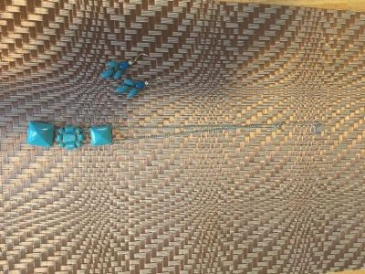 Turquoise necklace and earrings set!!