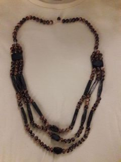Gorgeous Wood Bead Necklace
