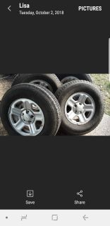 Jeep tires with rims