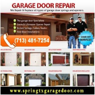 Commercial Garage Door Repair $25.95 in 1 hour 77379 Spring TX