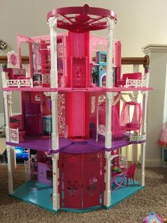 Barbie house with furniture