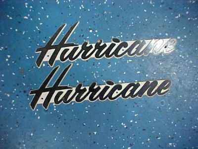 Find Hurricane Emblems in Cursive Writing *VINTAGE* New Old Stock AWESOME FIND!! motorcycle in Coldwater, Michigan, United States, for US $99.00