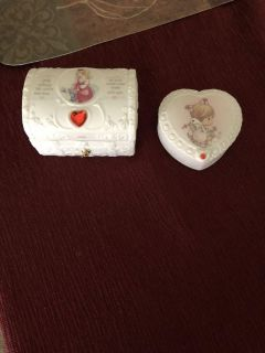 Precious moments July box and heart box. Great condition. $20.00 for both.