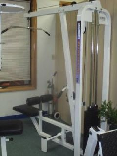 gym lat weights tower