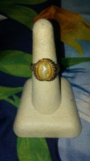 Cool vintage faux pearl ring