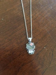 Sterling Silver Hello Kitty Necklace