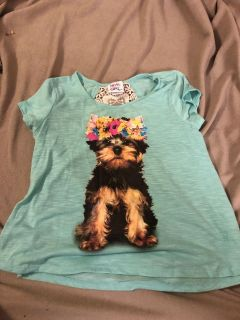 Adorable puppy shirt - porch pick up - size 14 but looks like a 10.