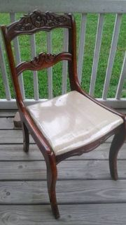 Antique Tell City Solid Wood Mahogany Chair 4561
