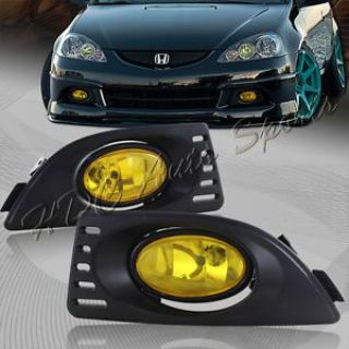 Sell For 2005-2007 Acura RSX JDM Chrome Housing Yellow Lens Fog Driving Bumper Lights motorcycle in Walnut, California, United States