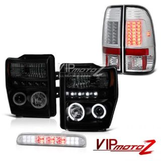 Find C.C.F.L Angel Eye Headlights LED Brake Tail Lights Third Cargo 08 09 10 F350 FX4 motorcycle in Walnut, California, United States, for US $403.90