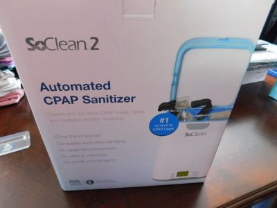 SO CLEAN 2 AUTOMATED CPAP SANITIZER, NEW IN BOX.