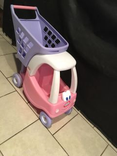 Little tikes shopping cart buggy pink and purple