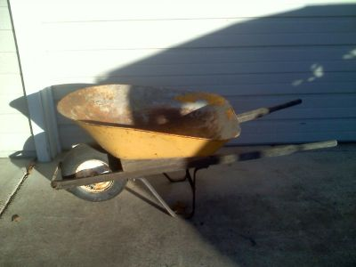 Wheelbarrow - Pneumatic Tire - Steel Tub