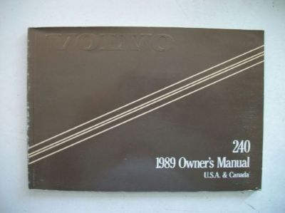 Purchase Volvo 240 GL DL & Wagon Owner's Manual 1989. Good Cond. Clear no owner info. motorcycle in Perris, California, United States, for US $18.00