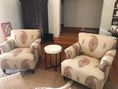 Pair of Custom Arm Chairs